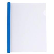 Папка А4 пластиковая с планкой-прижимом 95 л, синяя