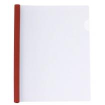 Папка А4 пластиковая с планкой-прижимом 95 л, красная