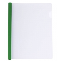 Папка А4 пластиковая с планкой-прижимом 95 л, зеленая