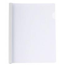 Папка А4 пластиковая с планкой-прижимом 95 л, белая