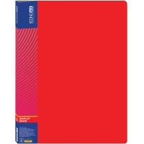 Папка пластиковая с 20 файлами, красная