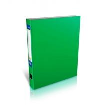 Папка-регистратор на 2-О кольца, А4, 38мм, зеленая