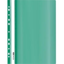 Папка-скоросшиватель глянец А5 с перфорацией зеленая