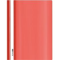 Папка-скоросшиватель глянец А5 без перфорации красная