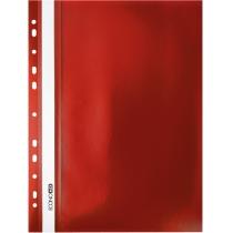 Папка-скоросшиватель А4 с перфорацией красная