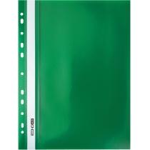 Папка-скоросшиватель А4 с перфорацией зеленая