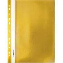 Папка-скоросшиватель А4 с перфорацией желтая