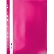 Папка-скоросшиватель А4 с перфорацией розовая