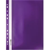 Папка-скоросшиватель А4 с перфорацией фиолетовая
