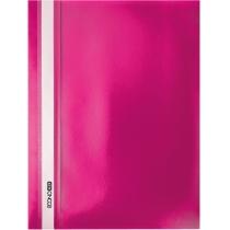Папка-скоросшиватель А4 без перфорации розовая