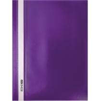 Папка-скоросшиватель А4 без перфорации фиолетовая