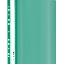 Папка-скоросшиватель глянцевые А4 с перфорацией зеленая