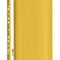 Папка-скоросшиватель глянцевые А4 с перфорацией желтая