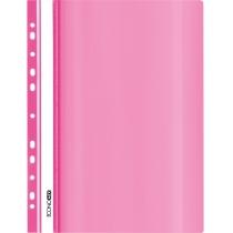 Папка-скоросшиватель глянцевые А4 с перфорацией розовая