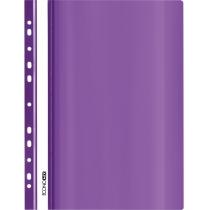 Папка-скоросшиватель глянцевые А4 с перфорацией фиолетовая