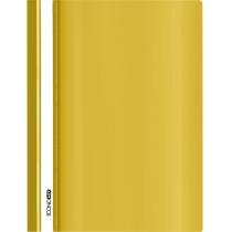 Папка-скоросшиватель гнянць А4 без перфорации желтая