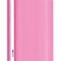 Папка-скоросшиватель глянцевые А4 без перфорации розовая