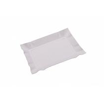 Тарелка бумажная белая 14 х 20 см 100 шт
