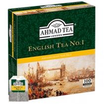 Чай Ahmad Tea, Англійський №1, чорний з бергамотом, 100х2г в одноразових пакетиках з ярликом