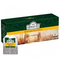 Чай Ahmad Tea, Английский №1, черный с бергамотом, 25х2г в одноразовых пакетиках с ярлыком