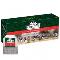 Чай Ahmad Tea, Англійський до сніданку, чорний, 25х2г в пакетиках з ярликом