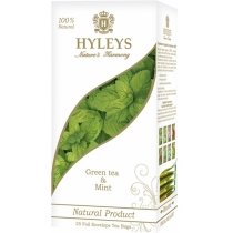 Чай Hyleys зелений з м'ятою 1,5 г, 25шт, фольгований пакет