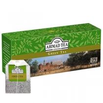 Чай Ahmad Tea, зелений, китайський, 25х2г в одноразових пакетиках з ярликом