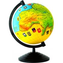 Глобус Украины лакированный без подсветки, пластиковая подставка