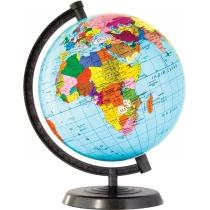 Глобус политический лакированный без подсветки, пластиковая подставка