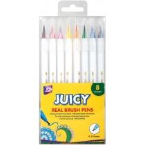 Фломастеры-кисточки REAL BRUSH Juicy, 8 цветов