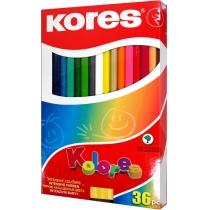 Карандаши цветные, 36 цветов, с точилкой, 2 металл.колл.