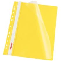 Скоросшиватель Esselte VIVIDA А4 с прозрачным верхом и перфорацией, желтый, 10 штук