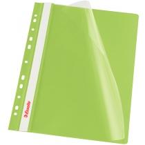 Скоросшиватель Esselte VIVIDA А4 с прозрачным верхом и перфорацией, зеленый, 10 штук