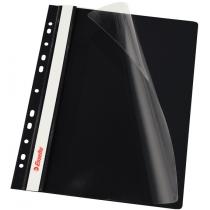 Скоросшиватель Esselte VIVIDA А4 с прозрачным верхом и перфорацией, черный, 10 штук