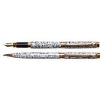 Набор: ручка шариковая и ручка перьевая SZ.LEQI Marble, серый