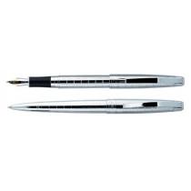 Набор: ручка шариковая и ручка перьевая SZ.LEQI Chopin, хром