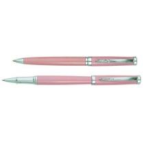 Набор: ручка шариковая и роллер CABINET Kristin, розовый