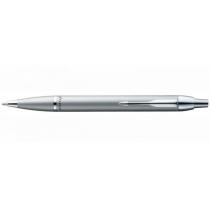 Ручка шариковая PARKER IM, стальная с хромом