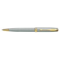 Ручка шариковая PARKER Sonnet, стальная с позолотой ( 2691* )