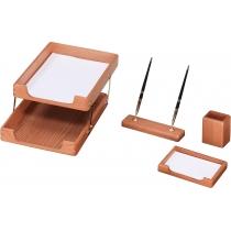 Набор настольный деревянный из 4 предметов ( O36424 )