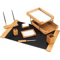 Набор настольный деревянный из 8 предметов ( O36420 )
