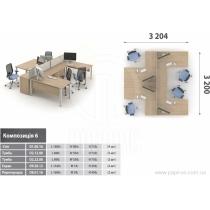 Комплект мебели для персонала, Озон, O.6
