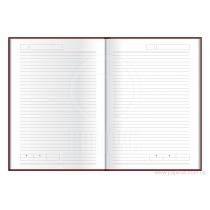 Деловая записная книжка VIVELLA, А6, мягкая обложка, резинка, белый блок линия, розовый