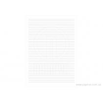 Книга учета вертикальная линия формат А4 48 листов офсет мягкая обложка