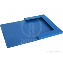 Папка-бокс пластикова А4, 20мм, на гумках, синя
