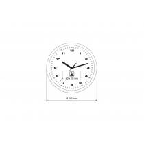 Часы настенные ROLLO серебряные