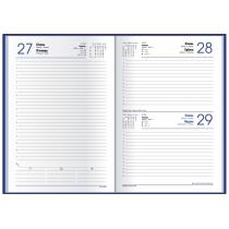 Ежедневник датированный 2019, ALLEGRA, темно-синий, А5