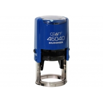"Оснастка автомат., GRAFF 46040 HUMMER ""GLOSSY"" пласт., для печати d40мм, синяя с футляром"