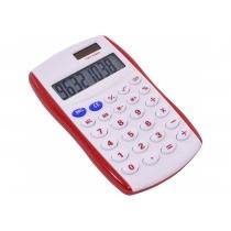 Калькулятор карманный Optima 8 разрядов, размер 123 * 77 * 14 мм, бело-красный