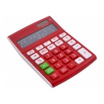 Калькулятор настольный Optima 12 разрядов, размер 146 * 105 * 26 мм, красный